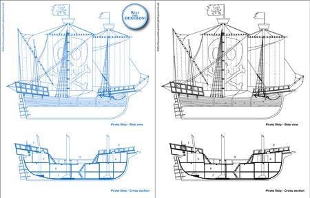 Øone s blueprints pirate ship 0one games