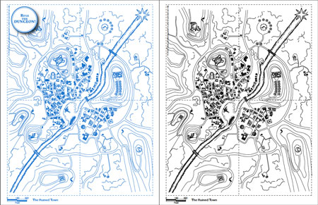 0ones blueprints the ruined town 0one games 0ones blueprints can be assembled to form a 16x21 inches giant map malvernweather Images