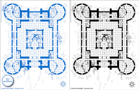 free castle blueprints
