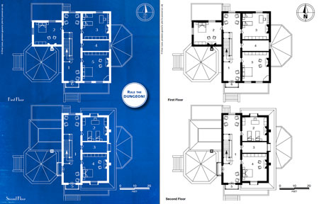 Deep blues victorian house 0one games 0ones blueprints ground floor first second third floor and a rooftop map it also features a side elevation and an overview map of the house and the surrounding park malvernweather Image collections